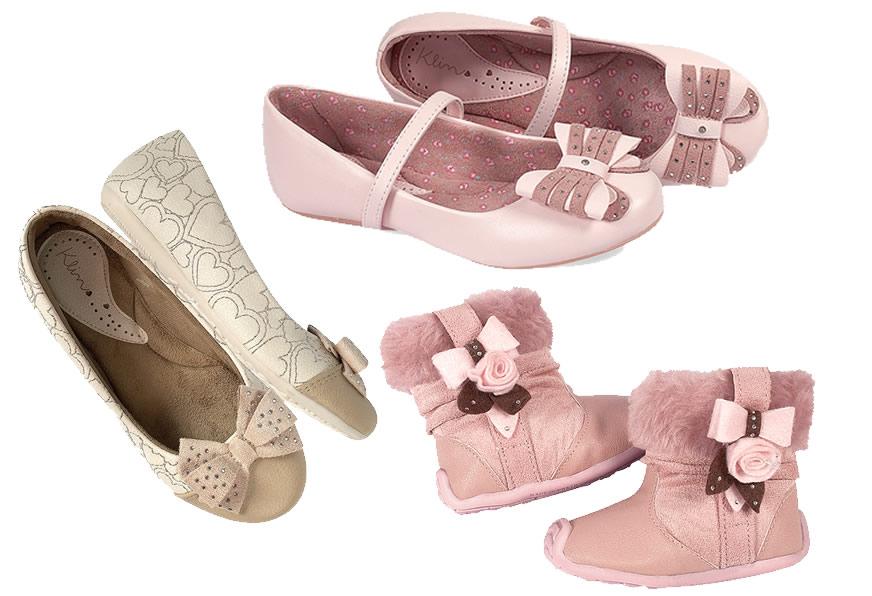 nova coleção de calçados infantil feminino klin  aa377251530
