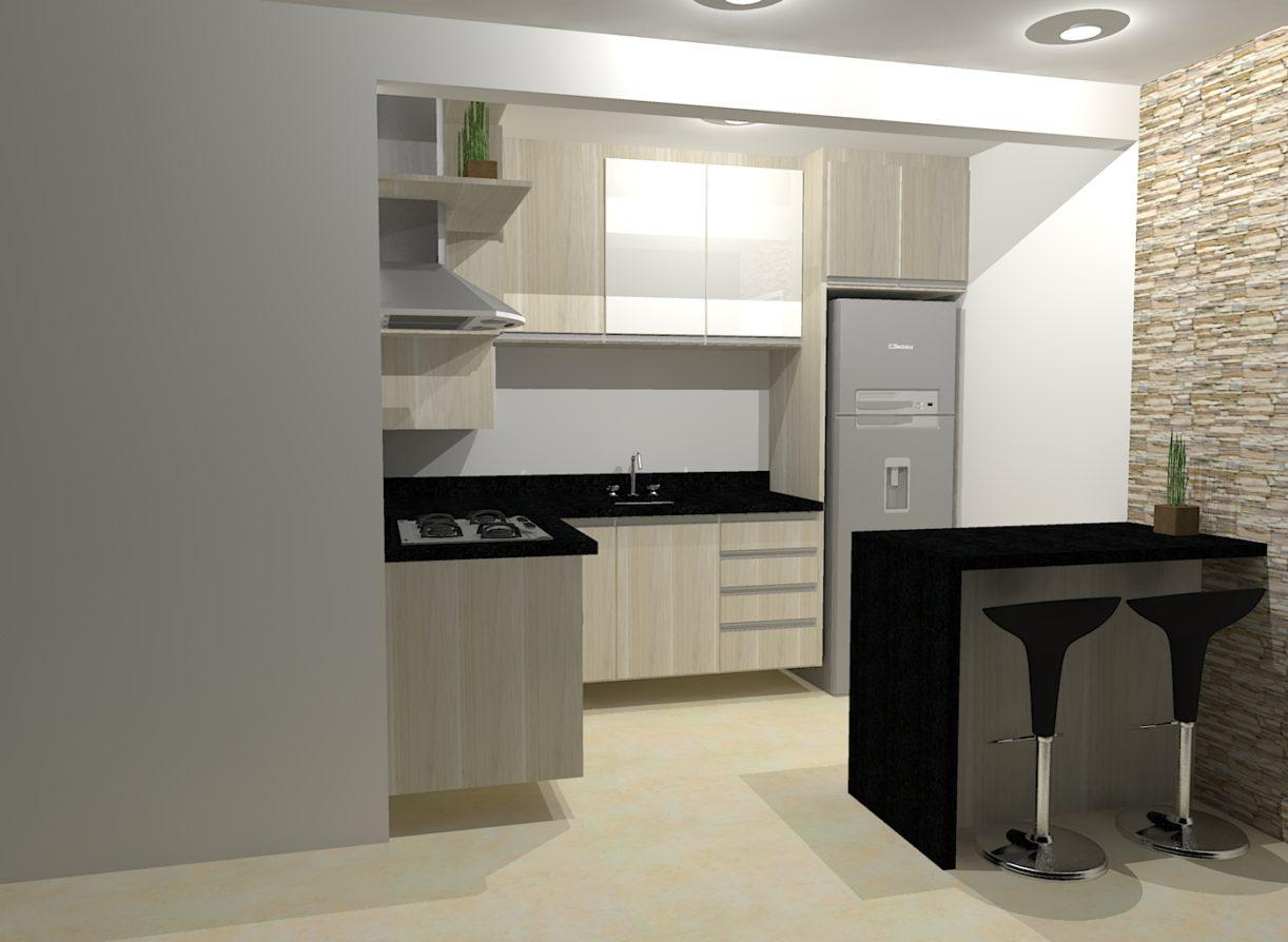 #4D5C36 Confira Modelos de Projetos de Cozinhas Sob Medida Ideias Mix 1400x1024 px Projeto Quarto E Cozinha Americana_4979 Imagens