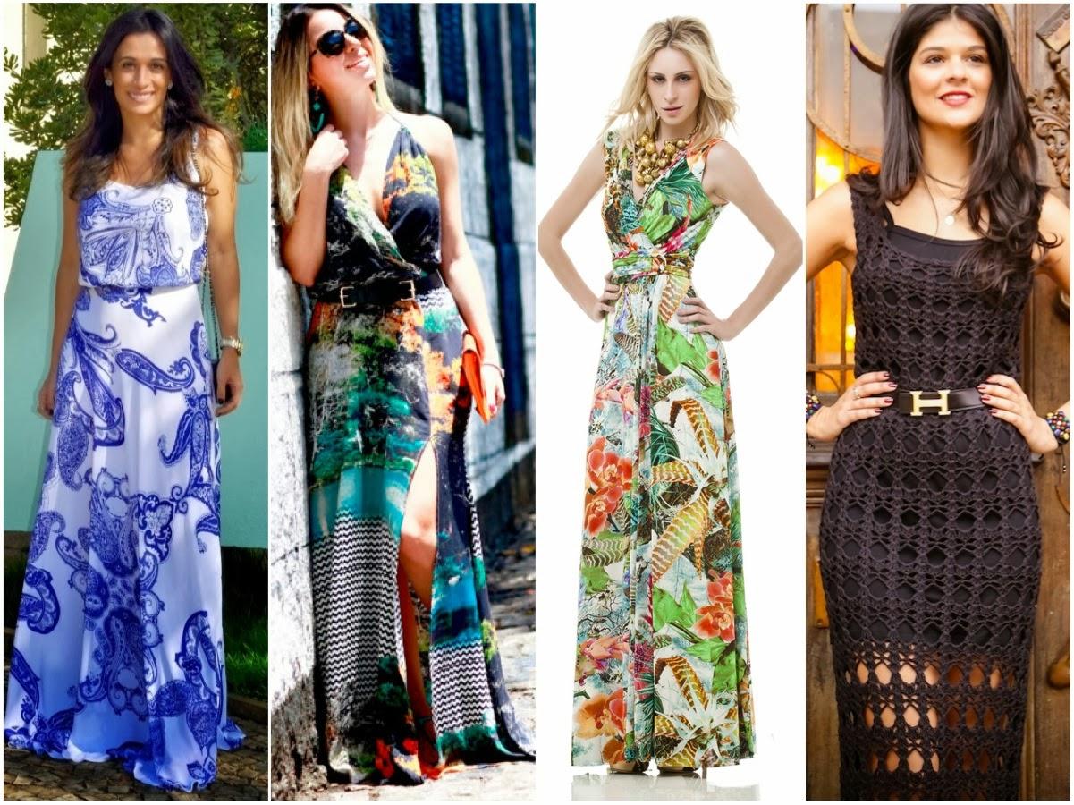 Confira os Mais Belos Modelos de Vestidos Longos de Verão Estampados