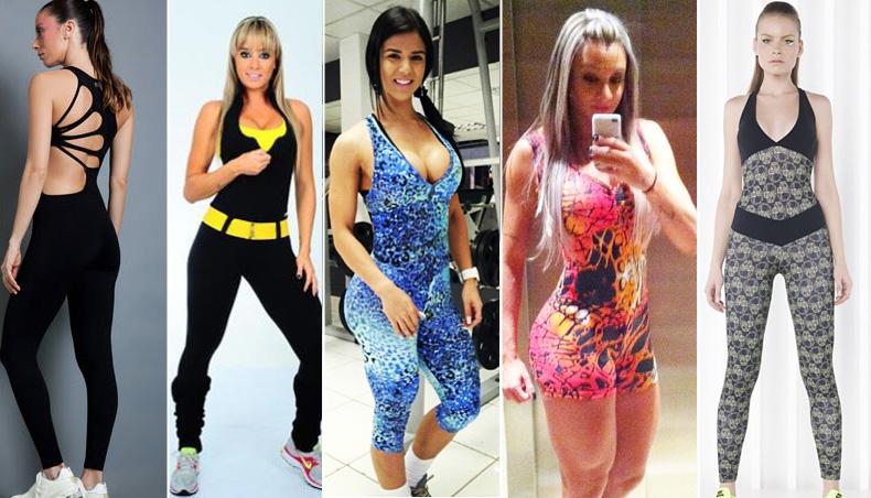 macacão feminino para academia estampado