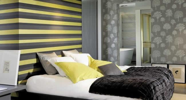 Ideias De Quarto Com Papel De Parede ~ Confira excelentes modelos de papel de parede para quarto de casal que