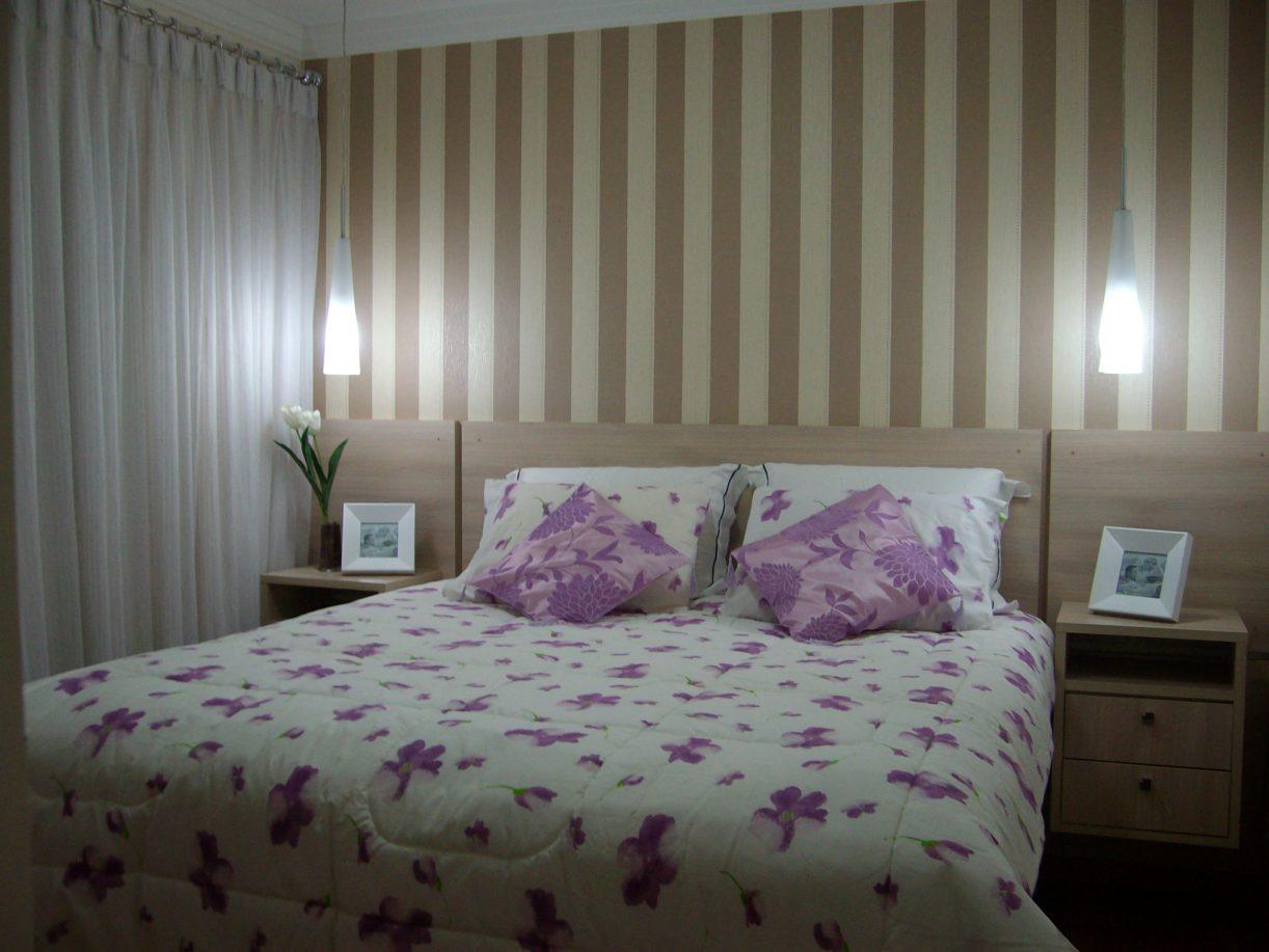 Dicas de papel de parede para quarto de casal decorativo - Paredes de papel ...