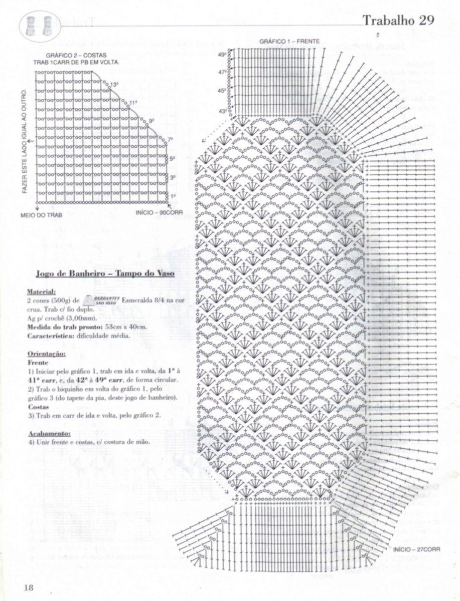 Modelos de Tapetes de Crochê com Gráficos Para Imprimir   Ideias Mix