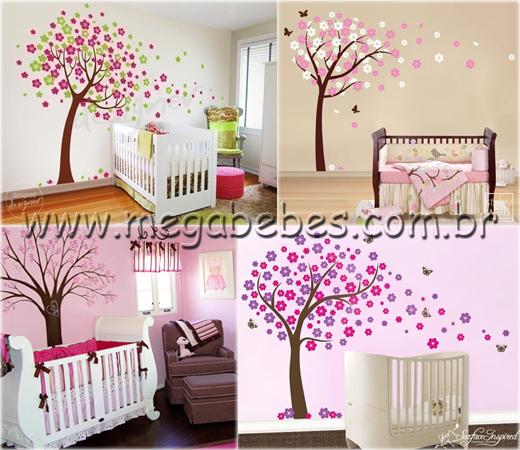 Adesivos Para Parede Quarto De Bebe ~ adesivos de parede para quarto de beb? feminino de flores
