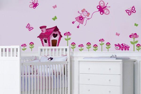 Quarto Infantil Para Bebe Feminino ~ Confira os melhores adesivos de parede para quarto de beb? feminino