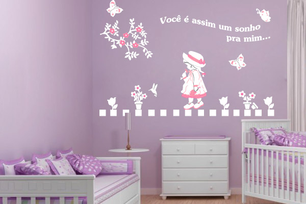 Armario Alto Para Limpieza Ikea ~ Confira Belos Adesivos de Parede Para Quarto de Beb u00ea Feminino Ideias Mix