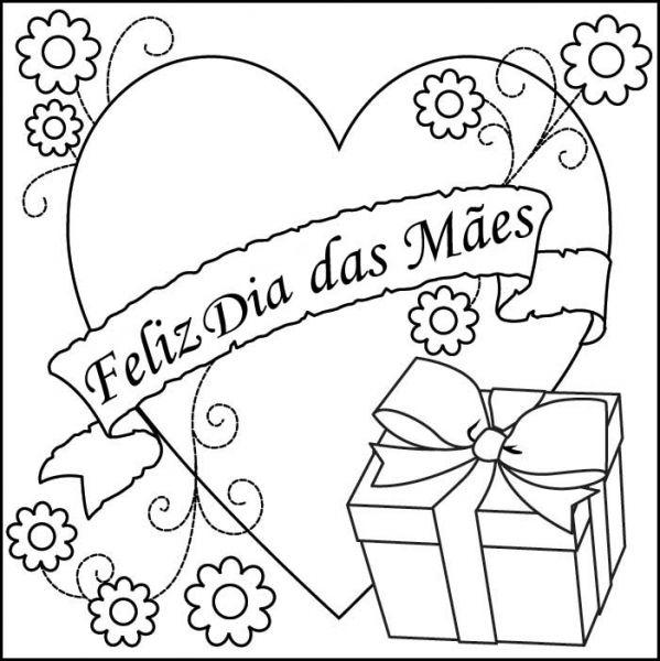 Desenhos Para Dia Das Maes Com Frases Ideias Mix