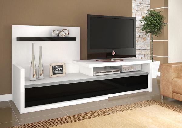 Confira modernos racks para sala de estar ideias mix for Sala de estar de madera