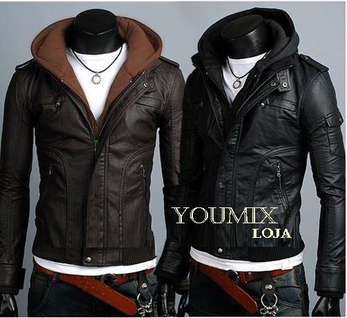 jaquetas de couro masculina sintético