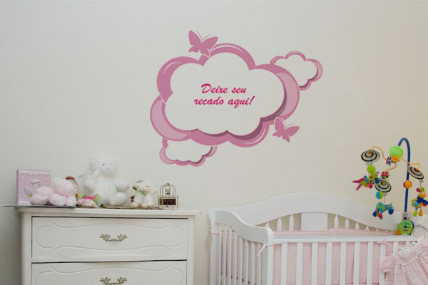Confira Belos Adesivos de Parede Para Quarto de Bebê  ~ Adesivos De Parede Para Quarto De Bebe Feminino