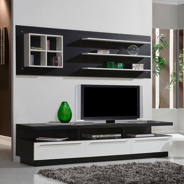 Confira modernos racks para sala de estar ideias mix for Modelos de sala de estar