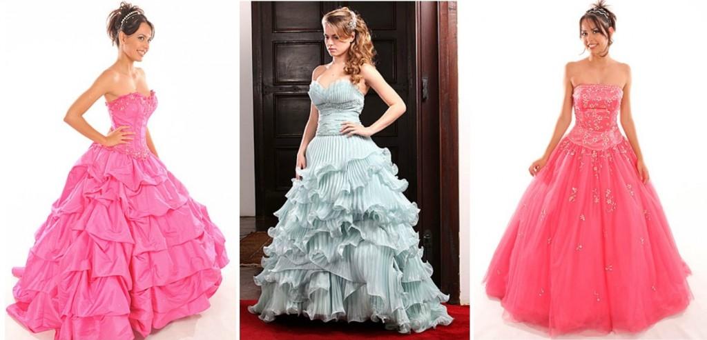 modelos de vestidos de debutantes para alugar