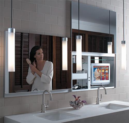 Confira Modernos Armários com Espelhos para Banheiro  Ideias Mix -> Decoracao Banheiro Atual