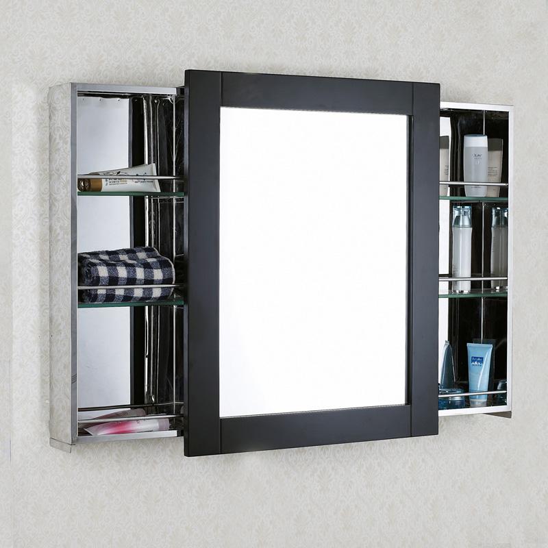 Confira Modernos Armários com Espelhos para Banheiro  Ideias Mix -> Armario De Banheiro Simples Com Espelho