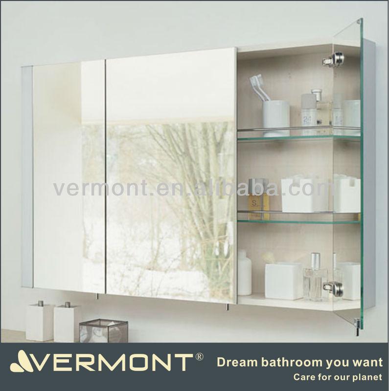 Confira Modernos Armários com Espelhos para Banheiro  Ideias Mix -> Armario De Banheiro Embutido Com Espelho