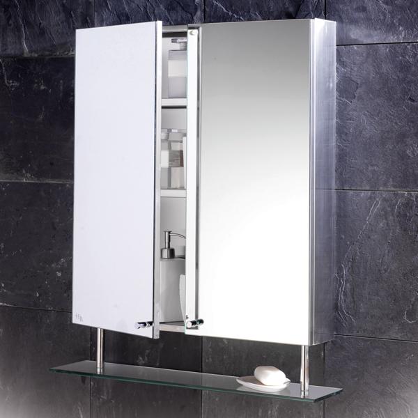 Confira Modernos Armários com Espelhos para Banheiro  Ideias Mix -> Loja De Armario De Banheiro