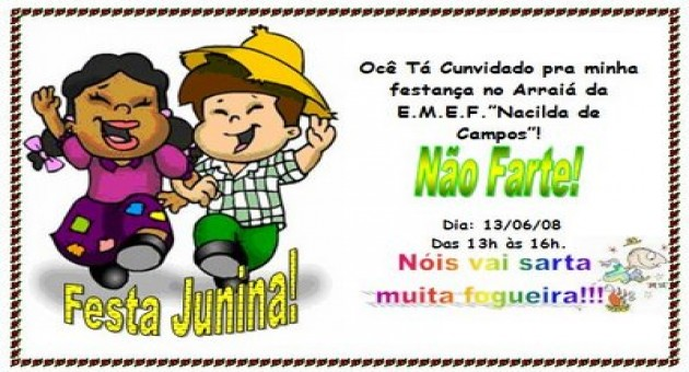 Confira Dicas De Convites Para Festa Junina Ideias Mix