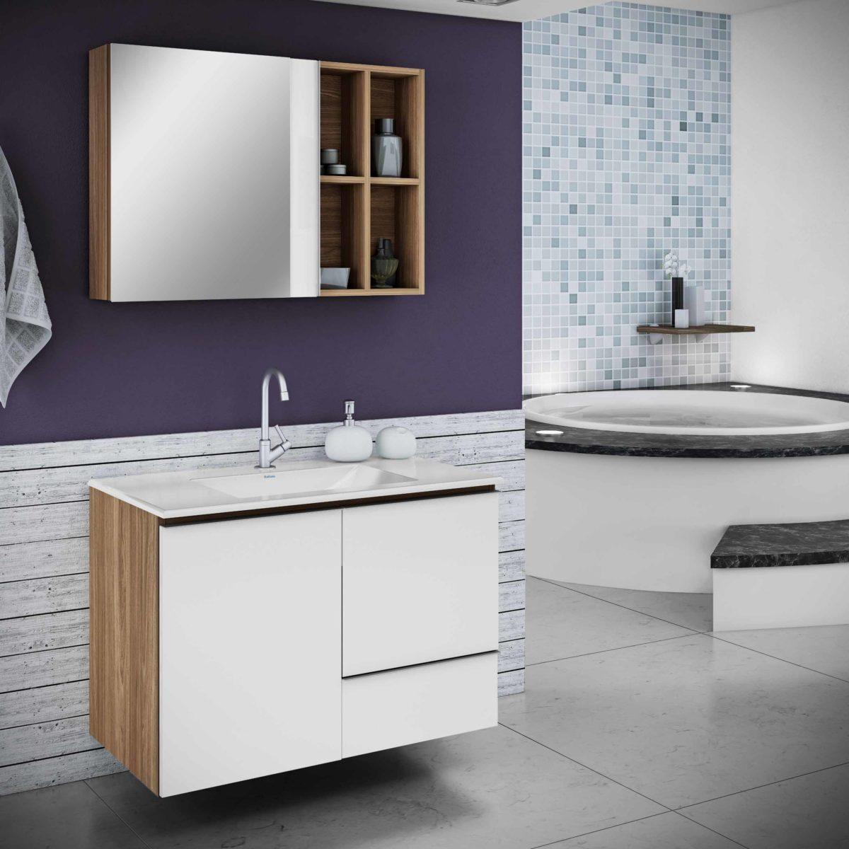 Confira Modernos Armários com Espelhos para Banheiro  Ideias Mix -> Armario De Banheiro Com Espelho Crismetal