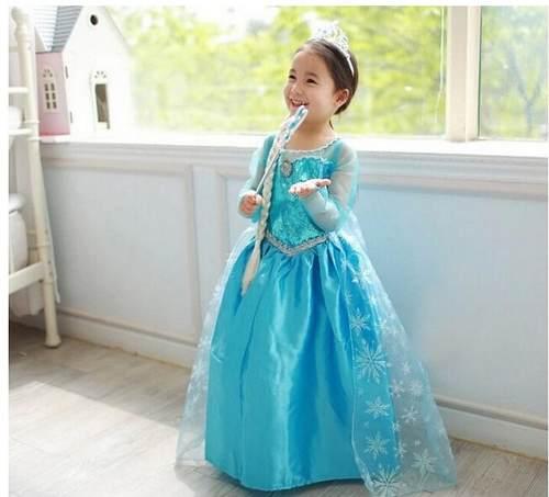 ddc62787bd Veja Belos Vestido Infantil Elsa Frozen de Festa
