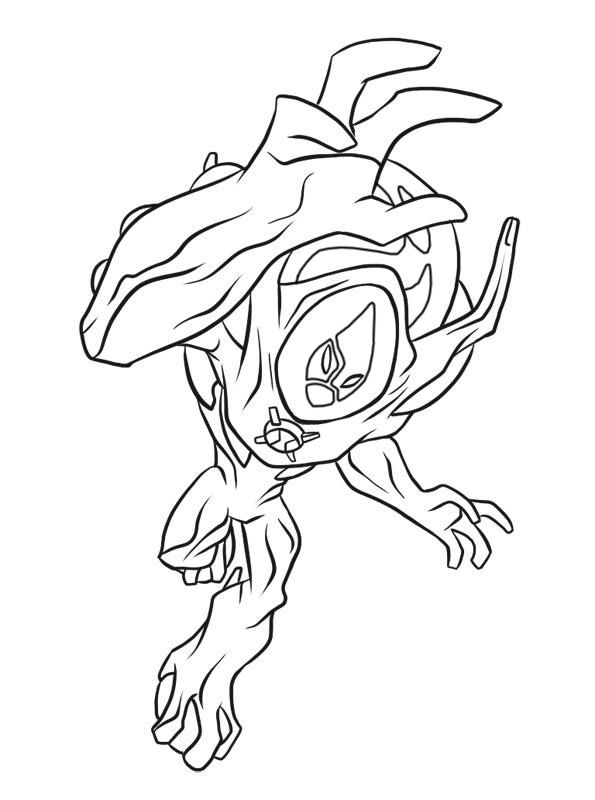 coloring pages of ben 10 ultimate swampfire coloring pages Ben 10 Ghostfreak Coloring Pages  Ben 10 Swampfire Coloring Pages