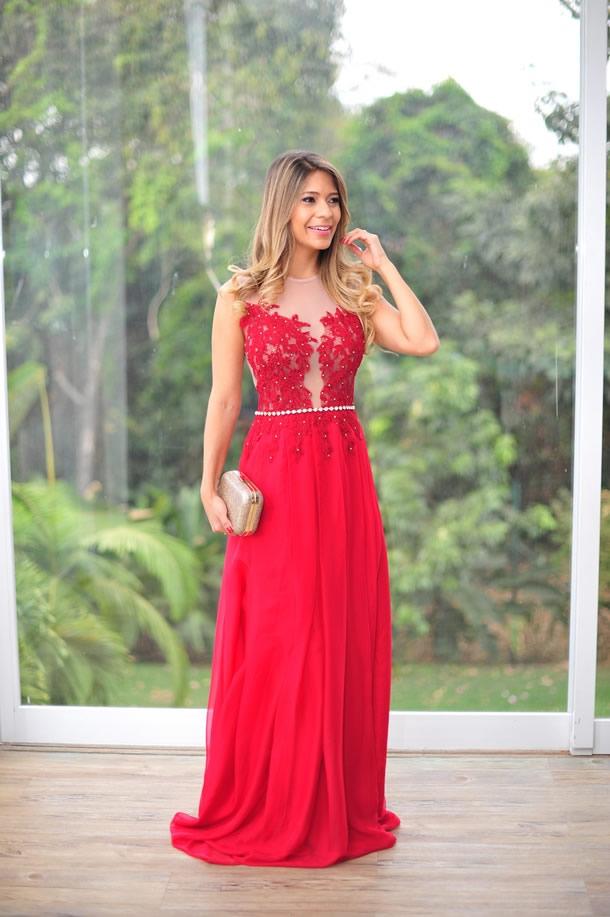 Belos Modelos de Vestidos de Renda Vermelhos para Festas e Baladas   Ideias Mix