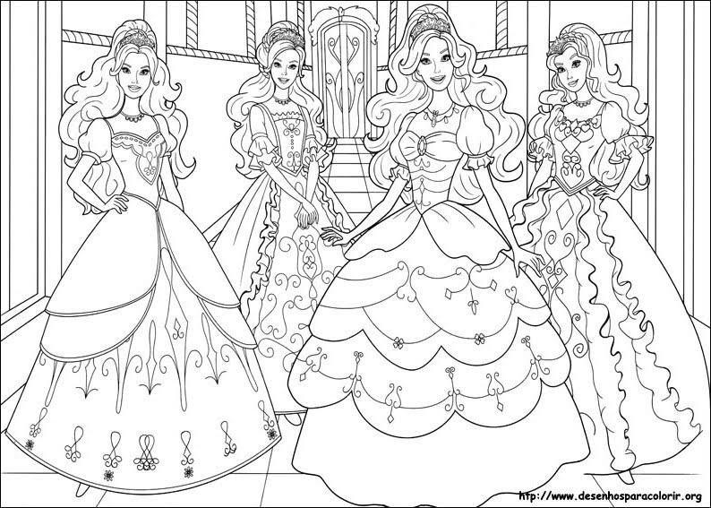 Lindos Desenhos Da Barbie Para Colorir