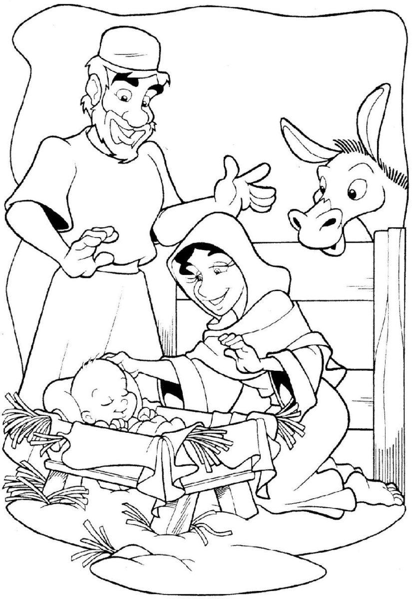 Confira os Melhores Desenhos do Nascimento de Jesus para Colorir e Imprimir