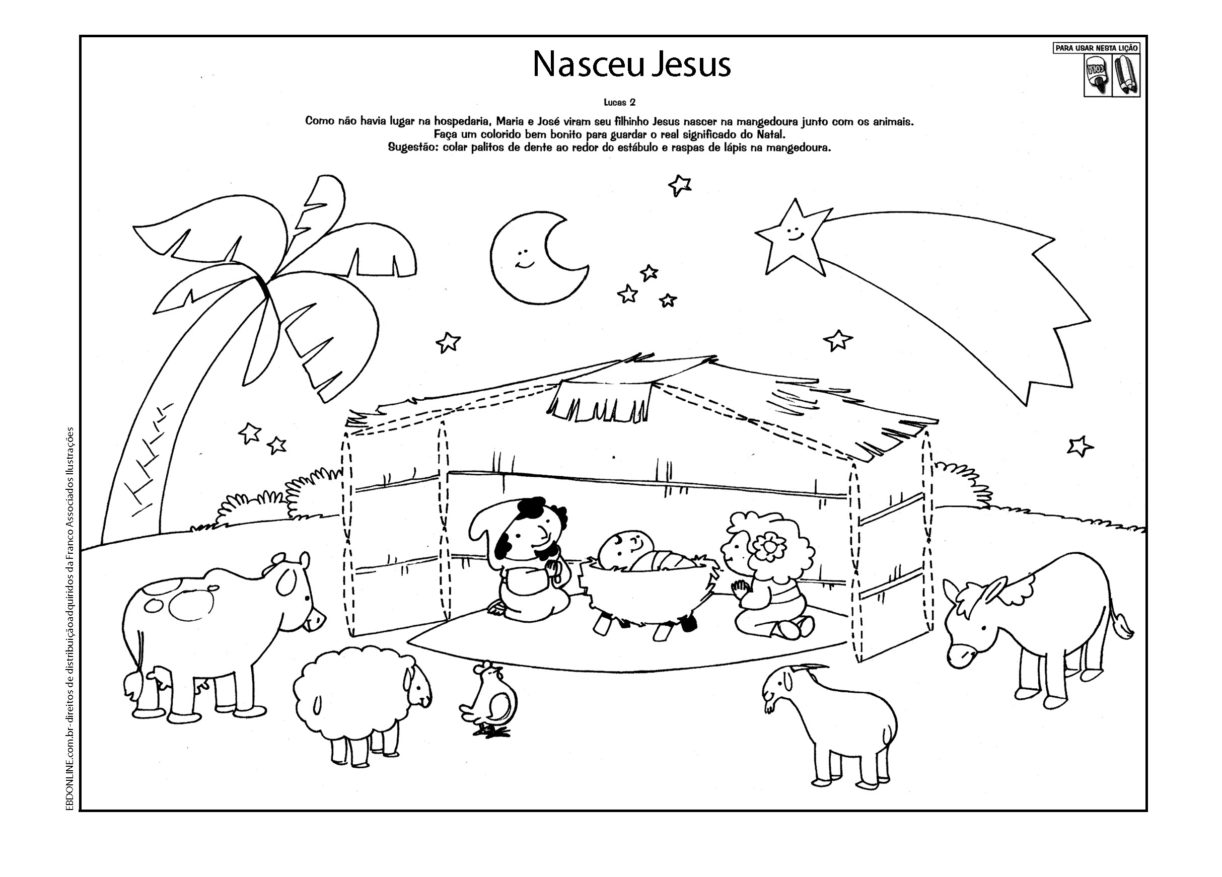 Confira Os Melhores Desenhos Do Nascimento De Jesus Para Colorir E  ~ Desenhos Para Colorir Cozinha