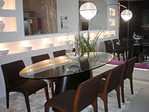 Modernas mesas de vidro para sala de jantar ideias mix - Mesas redondas modernas ...