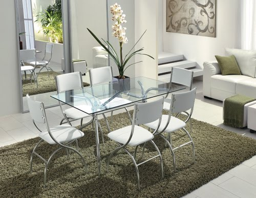 Mesa Para Sala De Jantar Com Vidro ~ Confira os belos modelos de mesas de vidro para sala de jantar e faça