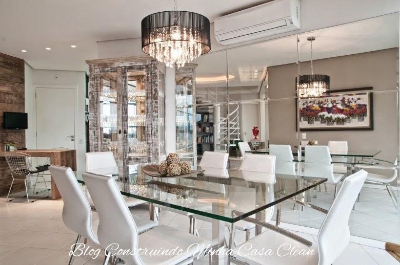 Tamanho De Uma Sala De Jantar Grande ~ Modernas Mesas de Vidro para Sala de Jantar  Ideias Mix