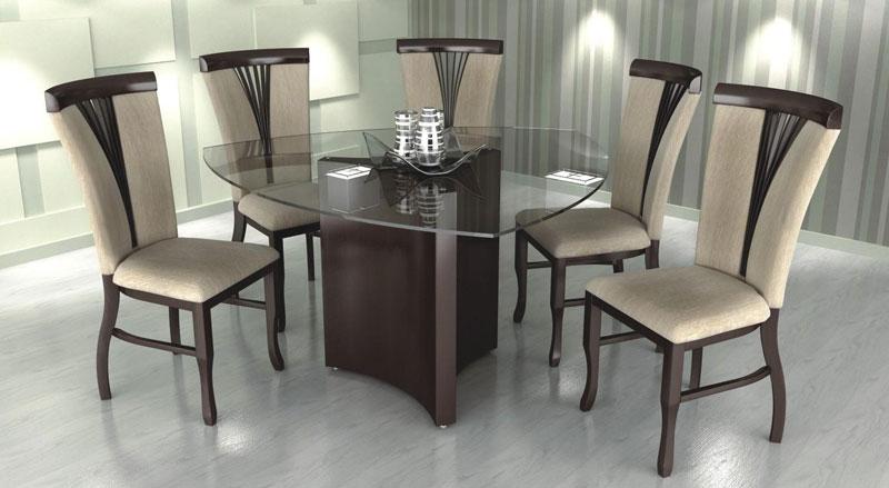 Mesa Para Sala De Jantar Com Vidro ~ Modernas Mesas de Vidro para Sala de Jantar  Ideias Mix