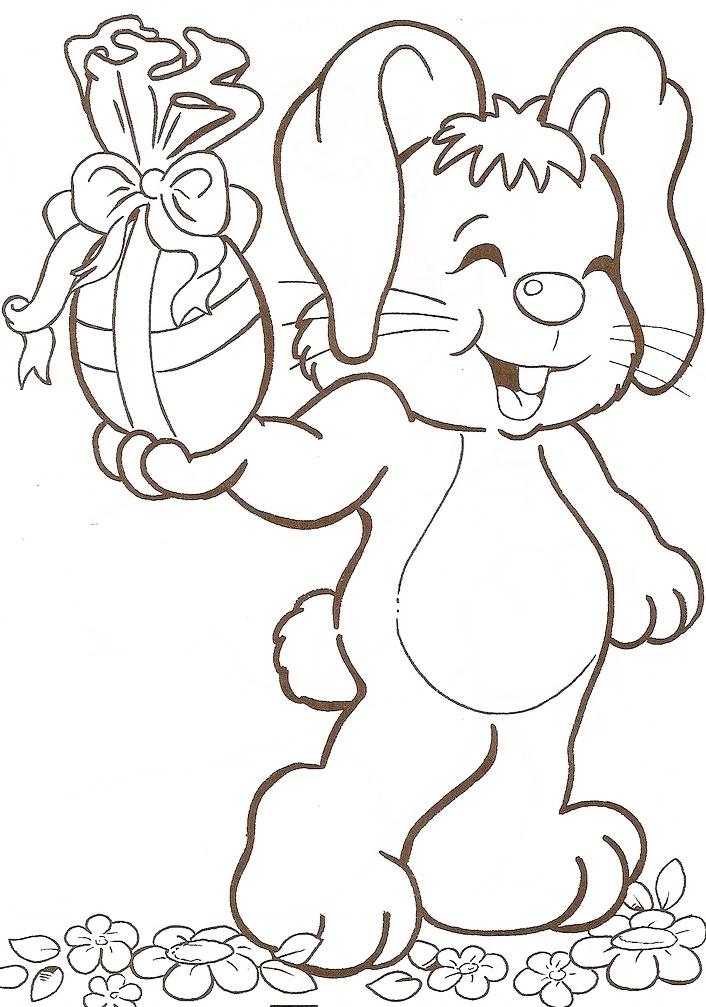Desenhos De Coelhos Da Pascoa Para Imprimir Ideias Mix