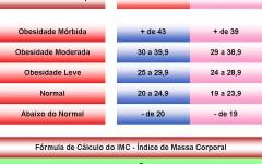 Calcule o IMC com uma Tabela de Pesos e Medidas Corporais