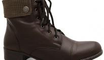 botas de couro femininas cano curto de couro