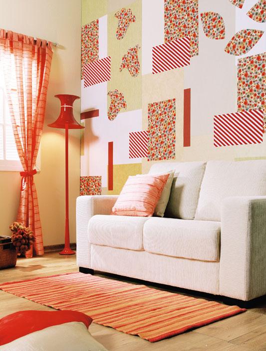 Sala Pequena Com Tecido Na Parede ~  Melhor Decoração com Tecido de Parede de Quarto e Sala  Ideias Mix