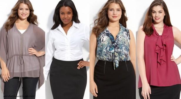 looks com roupas sociais femininas plus size