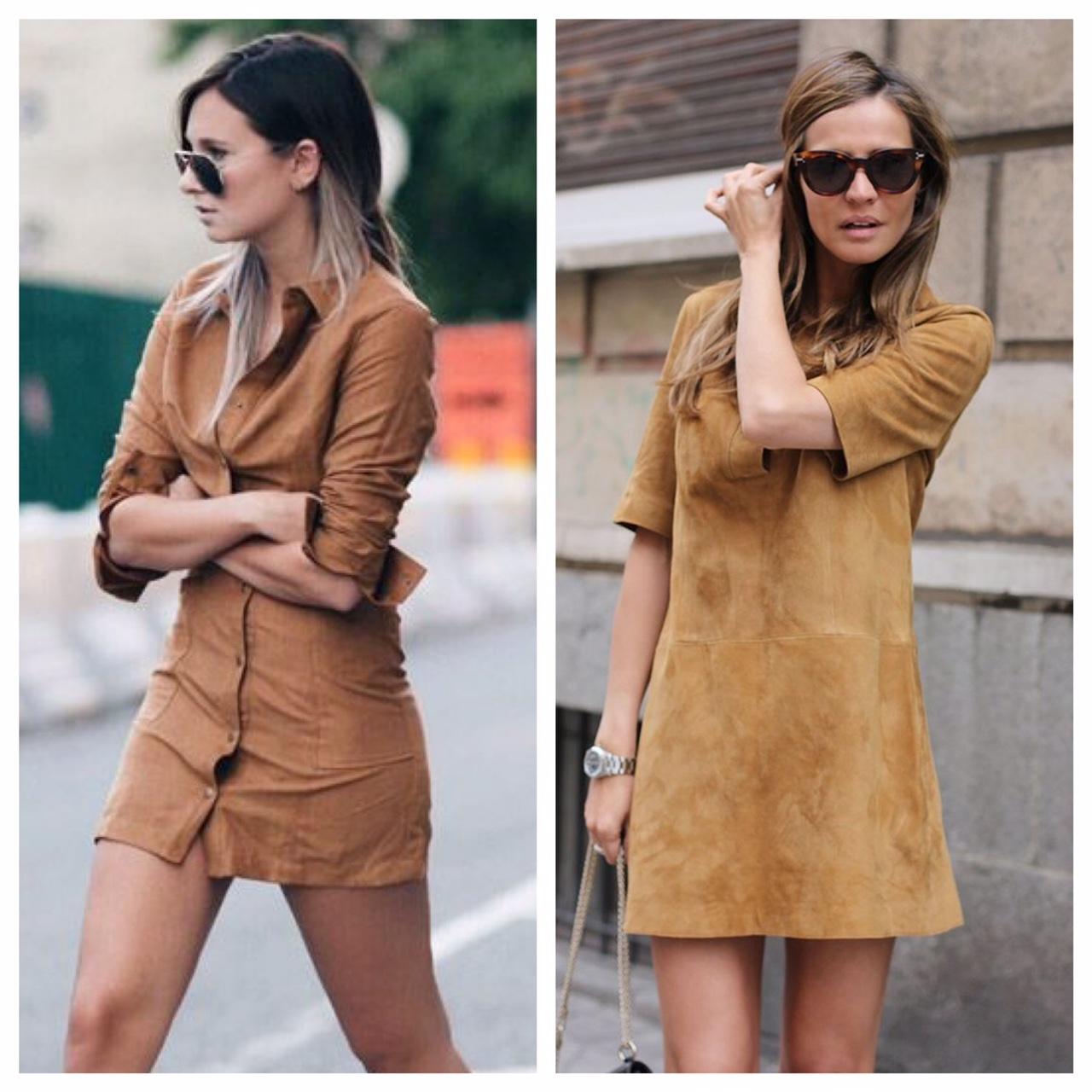 Desfrute Da Moda Usando Os Vestidos Suede Ideias Mix