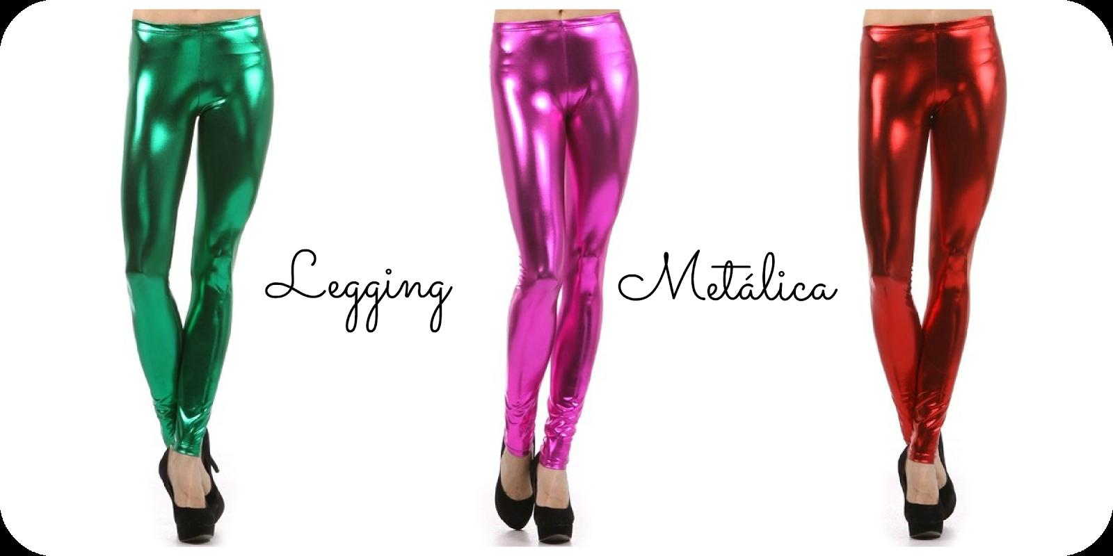 calças legging metalicas