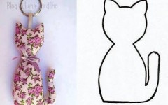 Moldes de Gatos em Feltro para Imprimir