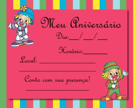 Convites Para Festa De Aniversario Infantil Ideias Mix