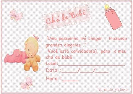 Lindos Convites Para Cha De Bebe Para Imprimir Ideias Mix