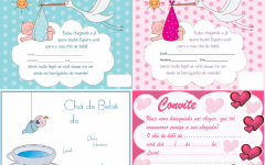 Lindos Convites para Chá de Bebê para Imprimir