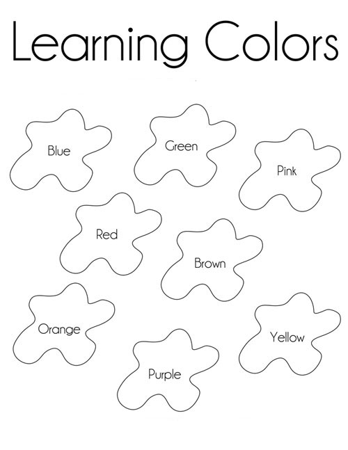 Desenhos para colorir com cores em ingl s para imprimir Coloring book for 1 year old