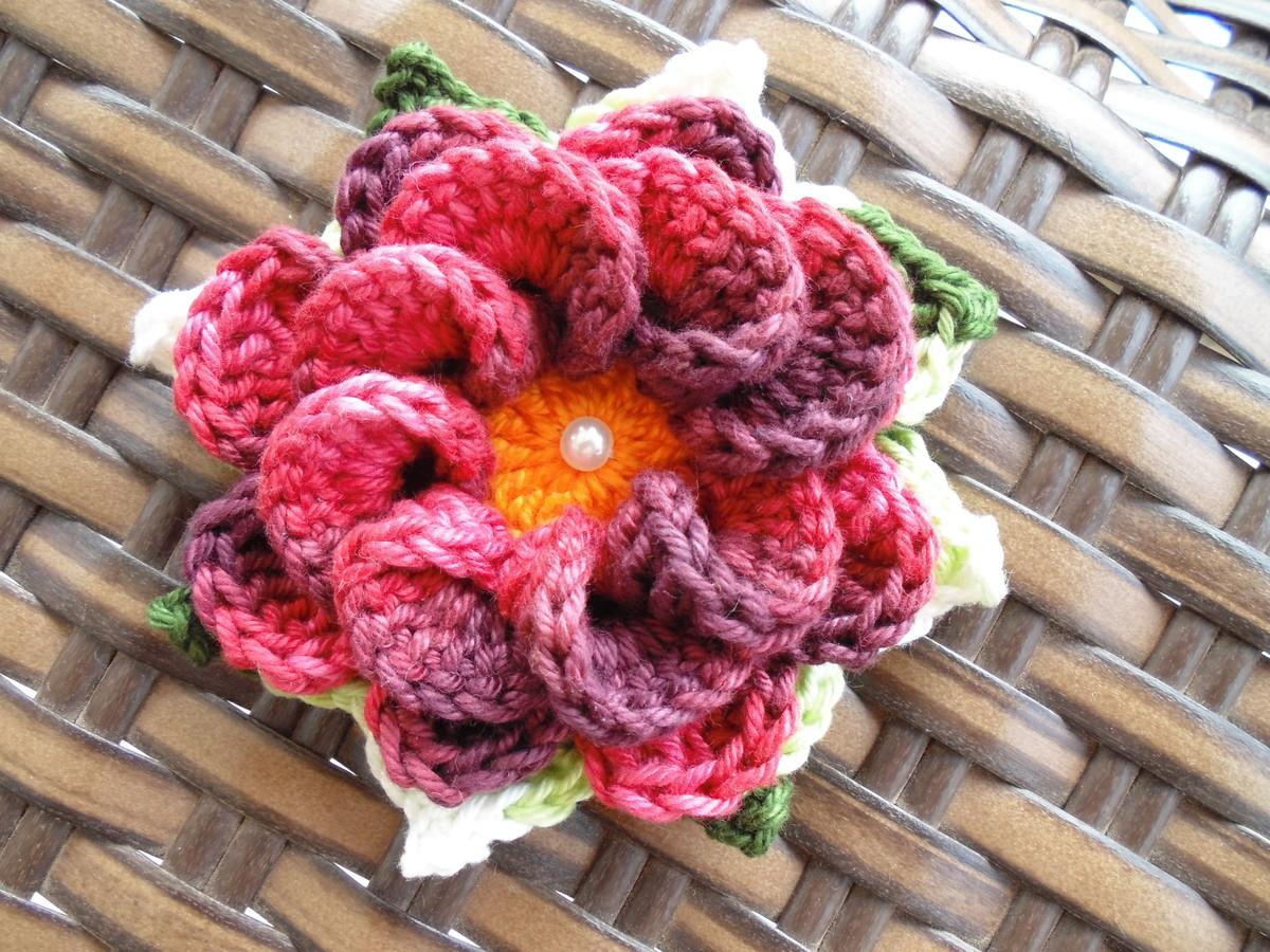 Como fazer flores de croch passo a passo ideias mix for Como criar caracoles de jardin