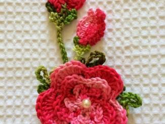como fazer flores de croche passo a passo
