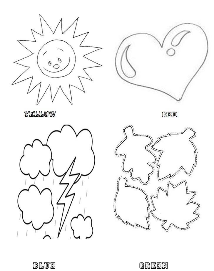 Desenhos Para Colorir Com Cores Em Ingles Para Imprimir Ideias Mix