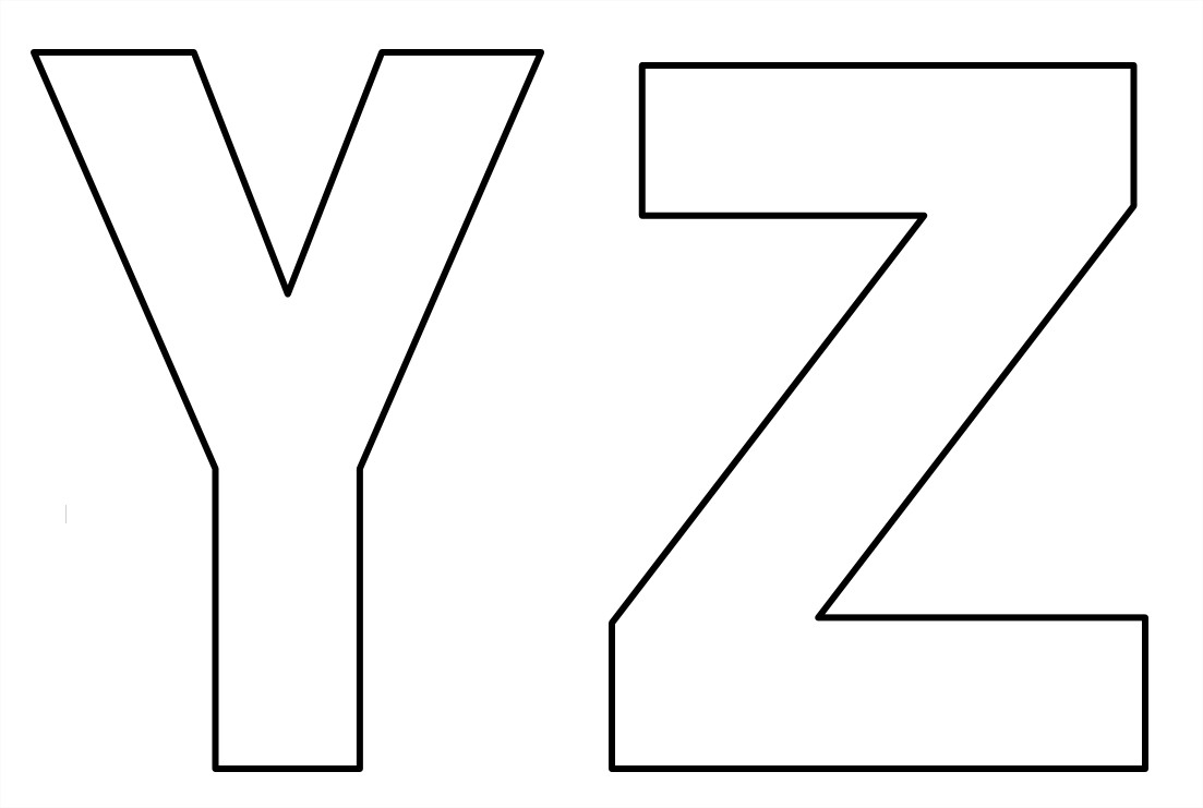 Abecedario De Letras Para Imprimir: Moldes De Letras Para Imprimir Do Alfabeto