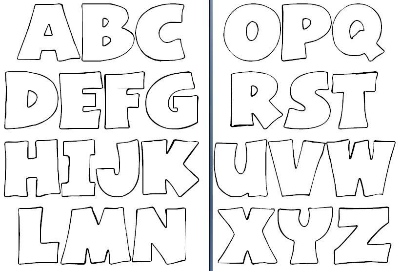 moldes de letras para imprimir do alfabeto ideias mix. Black Bedroom Furniture Sets. Home Design Ideas