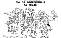Desenhos para o Dia da Independência do Brasil para Colorir